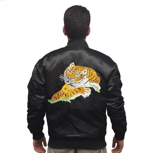 Black Satin Tiger Jacket