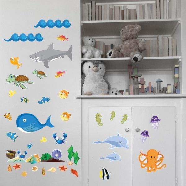 Ocean Animal Friends Wall Play Set