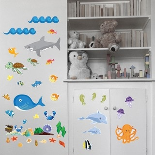 Ocean Animal Friends Wall Play Set