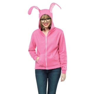 Adult A Christmas Story Ralphie's Pink Bunny Suit Hoodie