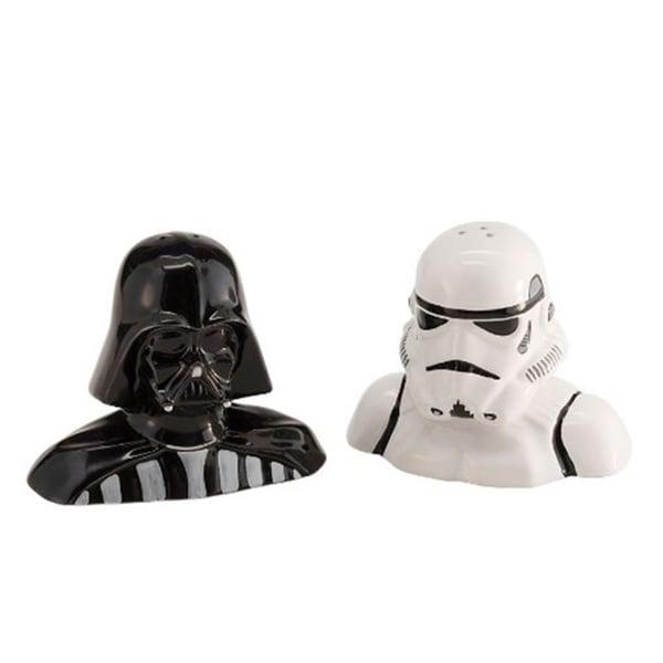 Star Wars Ceramic Darth Vader and Stormtrooper Salt and Pepper Shaker Set