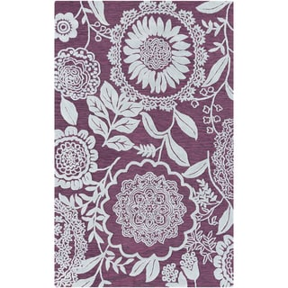 Artfully Crafted Inglett Floral Polyester Area Rug-(8' x 11')