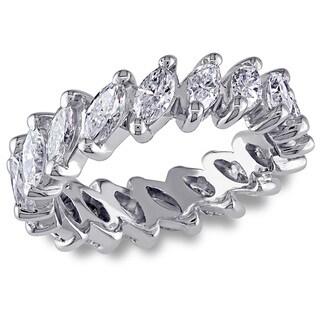 Miadora 18k White Gold 2 3/4ct TDW Diamond Eternity Ring (G-H, VS2-SI1)