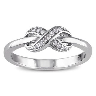 Haylee Jewels Sterling Silver Diamond Accent Infinity Ring