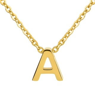 ELYA 18k Gold Overlay Initial Pendant Necklace
