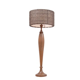 Giddings Antique Transitional Brown Indoor Floor Lamp