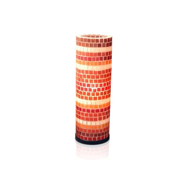 Converse Modern Geometric Transitional Red Indoor Floor Lamp