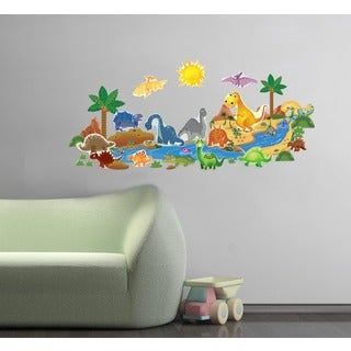 Dinosaur Friends Wall Play Set
