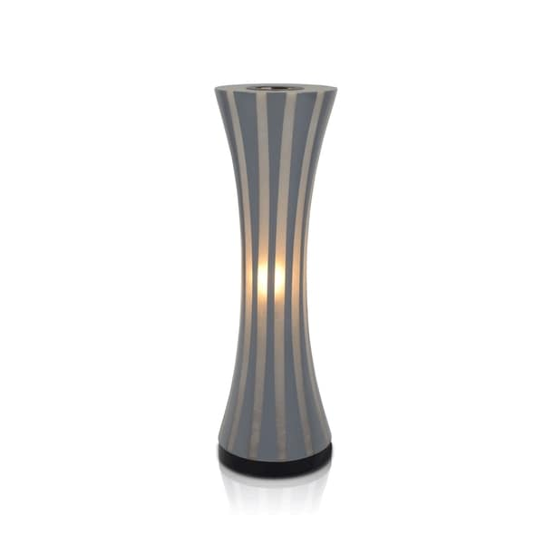Groves Polished Sleek Transitional Grey Indoor Floor Lamp