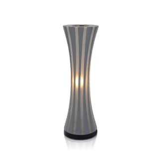 Groves Polished Sleek Transitional Grey Indoor Floor Lamp