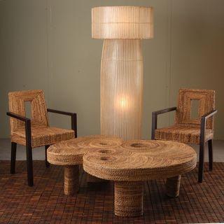 Hooks Bold Geometric Transitional Off-White Indoor Floor Lamp
