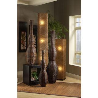 Abilene Modern Geometric Transitional Brown Indoor Floor Lamp