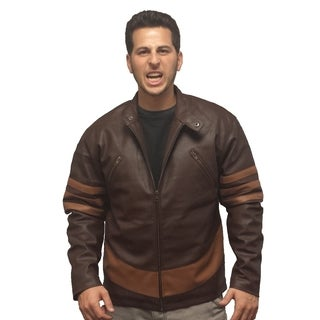 X-Men Wolverine Brown Leather Jacket