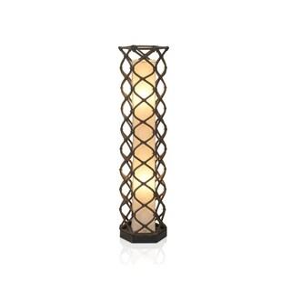 DeSoto Modern Geometric Transitional Brown Indoor Floor Lamp