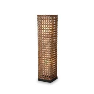 Dallas Geometric Transitional Tan Indoor Floor Lamp