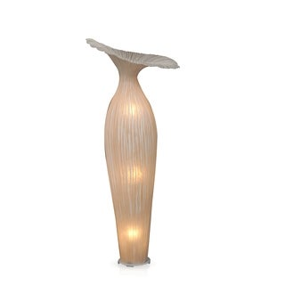 Gunter Antique Bold Transitional White Indoor Floor Lamp