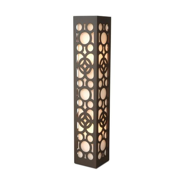 Belton Modern Geometric Transitional Brown Indoor Floor Lamp