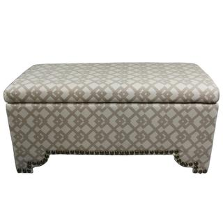 "17.75""H Geometric Nail Button Bench w/ 3 Seatings"