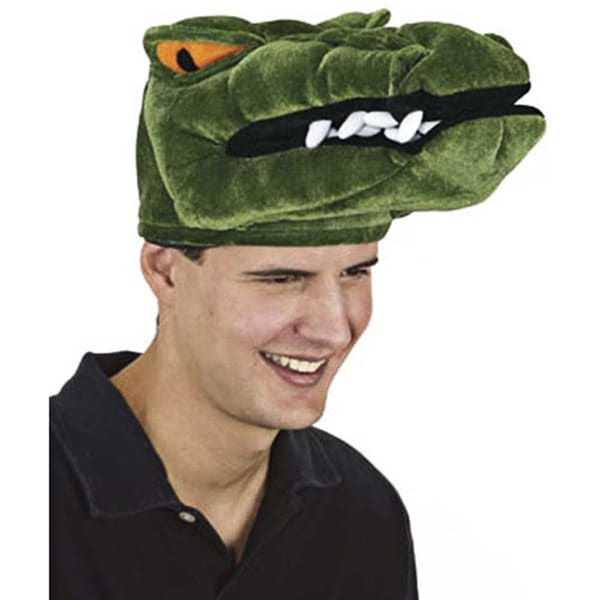 Adult Green Velveteen Alligator Hat