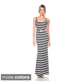 Stanzino Women's Striped X-back Tank Dress