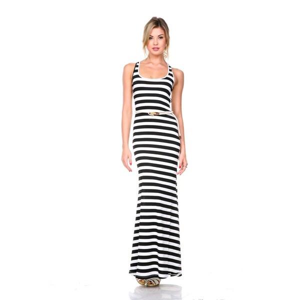 Stanzino Women's Striped X-back Tank Dress