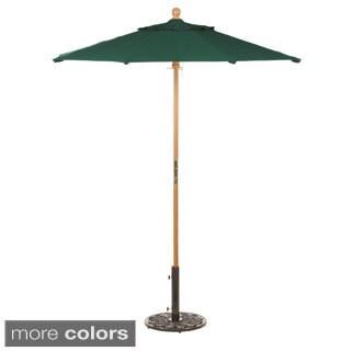 Oxford Garden Octagon 6 foot Sunbrella Market Umbrella, Wood