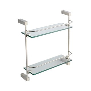 Fresca Ottimo 2 Tier Glass Shelf - Brushed Nickel