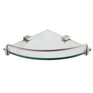 Fresca Ottimo Corner Glass Shelf - Brushed Nickel