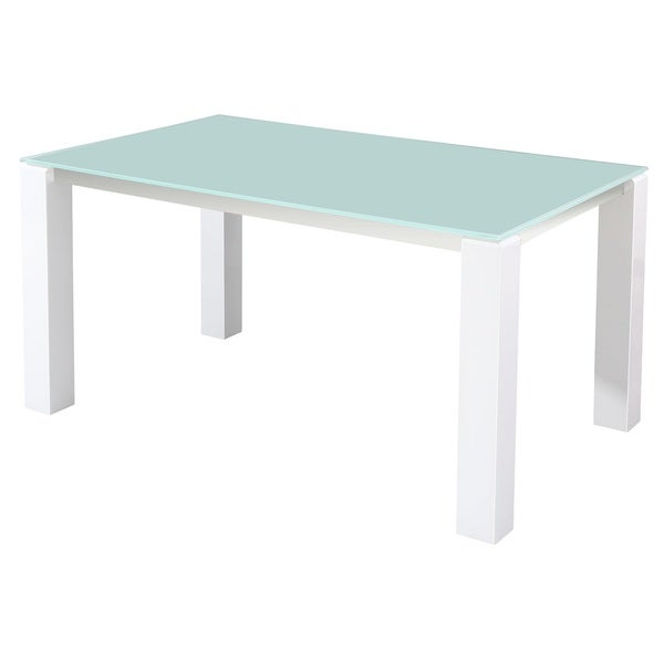 CAFE-462 Glass Table with High-gloss Legs