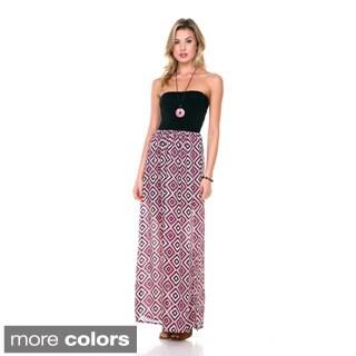 Stanzino Women's Strapless Two-tone Maxi Dress
