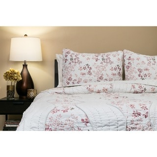 Willows Blush 100-percent Cotton Queen-size Quilt Set (Malawi)
