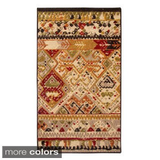 """Regence Home Woven Wool New Zealand Tribal Council Area Rug (7'5"""" x 10')"""