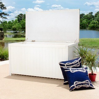Pelican Hill Wood Storage Box - White