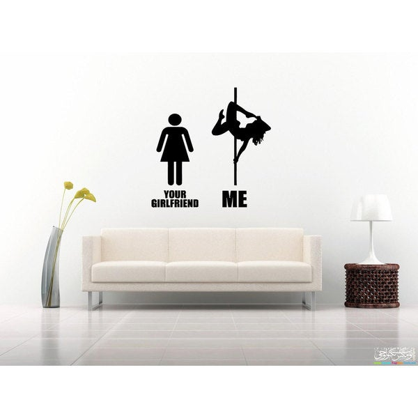Pole Dance Night Club Vinyl Wall Art