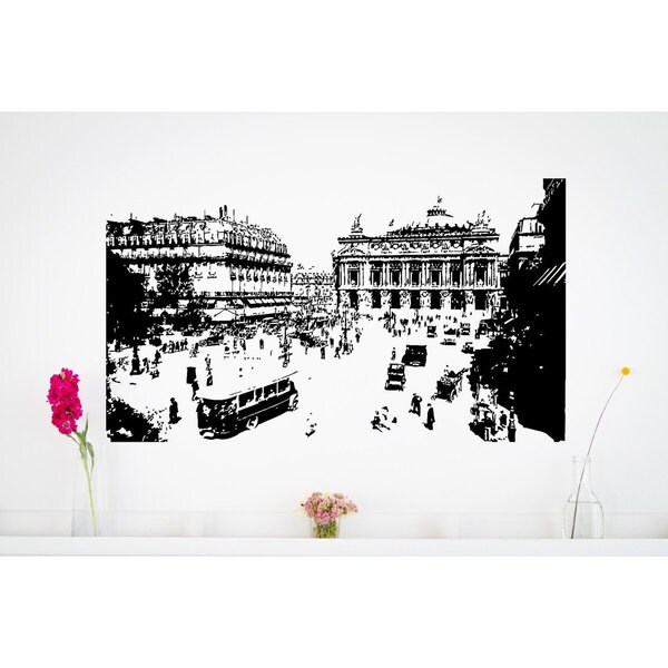 Romantic Paris France Vinyl Wall Art
