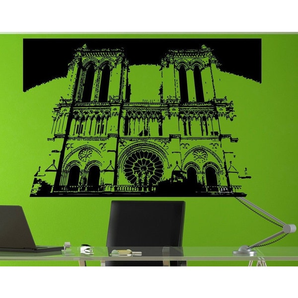 Notre Dame De Paris Paris France Romantic Vinyl Wall Art