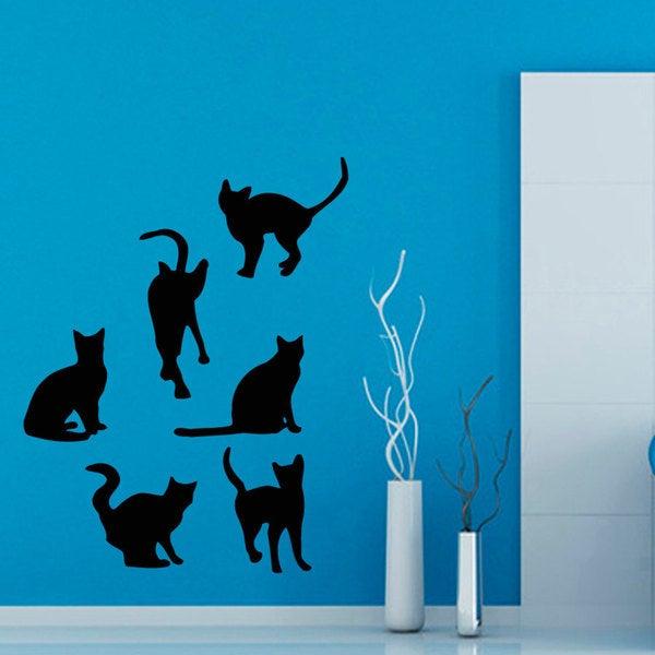 Cats Grooming Salon Vinyl Wall Art