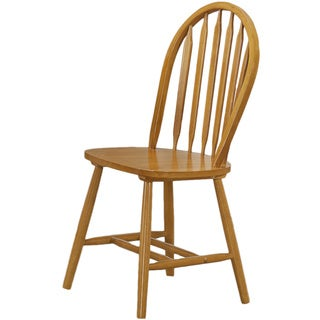 Spiced Oak Windsor Back Dining Chairs (Set of 2)