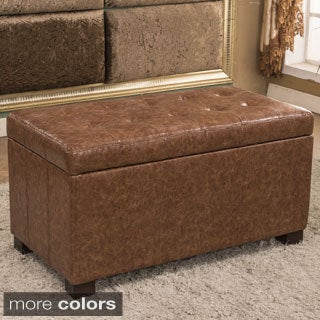 Traditional Waxed Texture Tufted Storage Bench Ottoman (More colors)