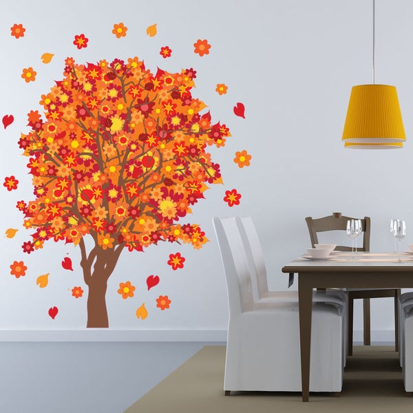 Orange Blossom Tree Wall Decal