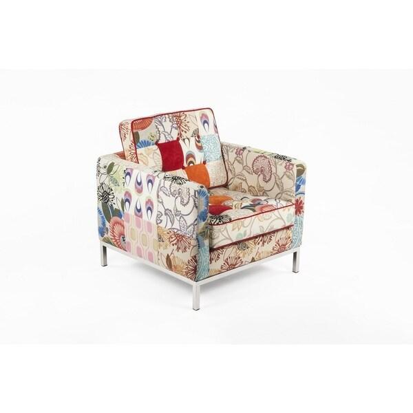 Hans Andersen Home Draper Multi-Color Upholstered Lounge Chair