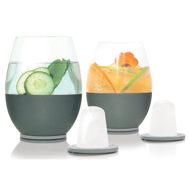 Soire Home Stemless Wine Chilling Glasses (Set of 2)