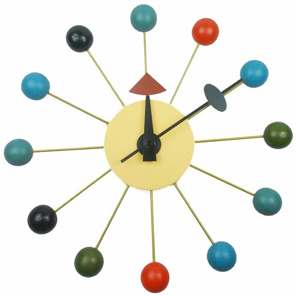 Mid-century Color Bubble Wall Clock