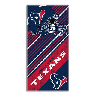 NFL 911 Texans Diagonal Beach Towel