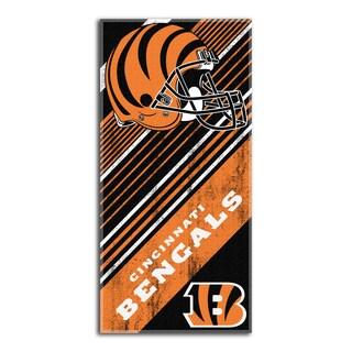 NFL 911 Bengals Diagonal Beach Towel