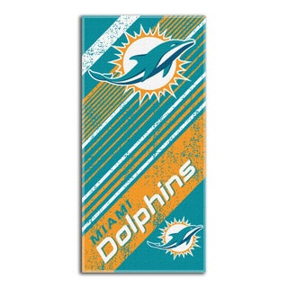 NFL 911 Dolphins Diagonal Beach Towel