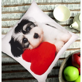 Jovi Home Puppy Love Decorative Pillow Cover (set of 2)