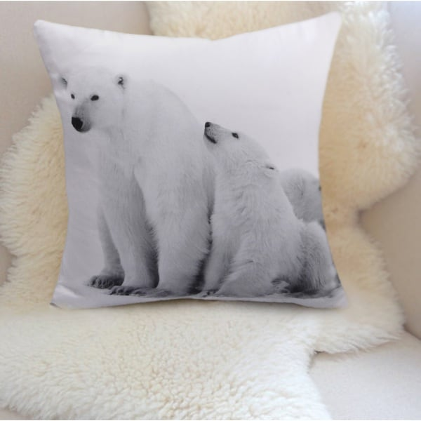Jovi Home Polar Bear Decorative Pillow Covers (set of 2)