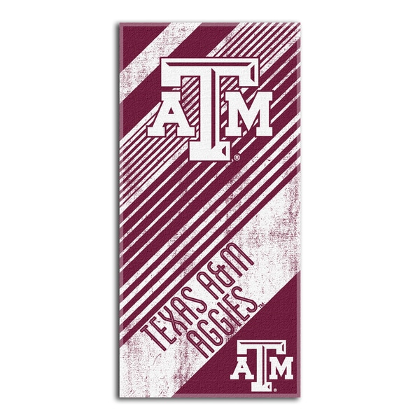 COL 911 Texas A&M Diagonal Beach Towel