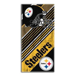 NFL 911 Steelers Diagonal Beach Towel